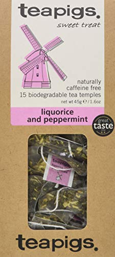 teapigs süβholzwurzel und pfefferminztee 15 tempel, 1er Pack (1 x 69 g)