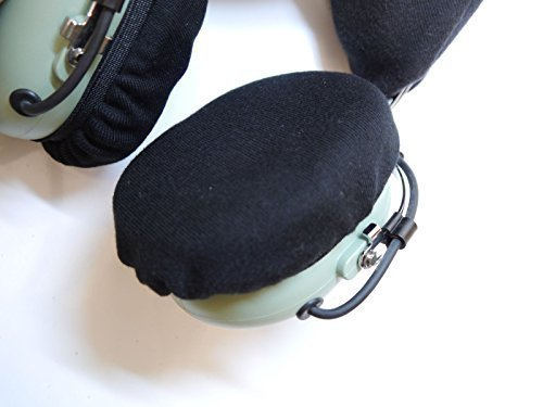 aviation-pilots-headset-earseal-black-cotton-cloth-covers-pair
