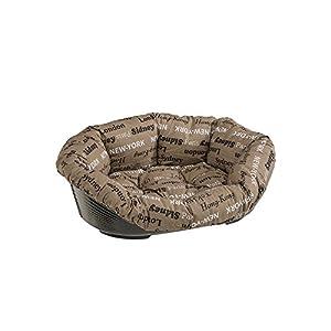 Ferplast - Sofa 4 / 70224999ZP - Panier en plastique pour chiens et chats - Garnissage amovible en coton - 45 x 30cm