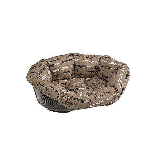 Ferplast 70224999 Kunststoffbett für Hund und Katze mit herausnehmbarem, gepolstertem Baumwollbezug, Sofa 4, Liegefläche ca.: 45 x 30cm, sortiert