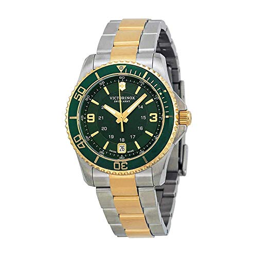 Victorinox Maverick Small Cuarzo - Reloj (Reloj de Pulsera, Femenino, Acero Inoxidable, Oro, Verde, Acero Inoxidable, Acero Inoxidable, Oro, Acero Inoxidable)