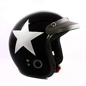 Autofy Habsolite Ecco Star Front Open Helmet (Black and Grey, M)