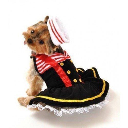 nd Katze Sailor Sweetie Halloween Weihnachten Kostüm XS-L - Large (Halloween Matrose Hut)