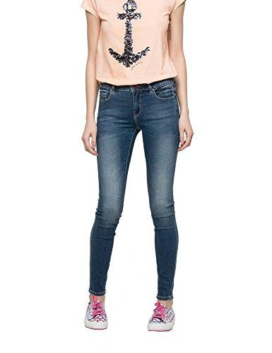 Only Women's Carmen Women's Blue Skinny-Fit Jeans Blau