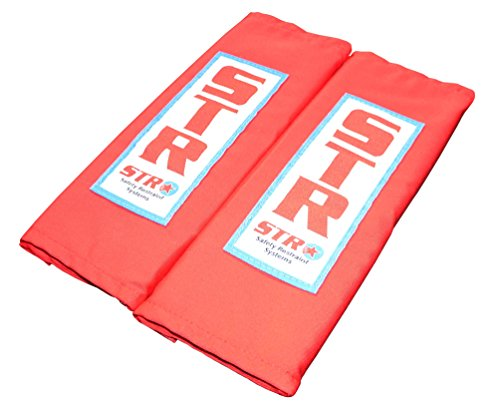 STR Racing Rembourrage Sangles d'épaule pour harnais - 75 mm/7,6 cm - Rouge ou Noir