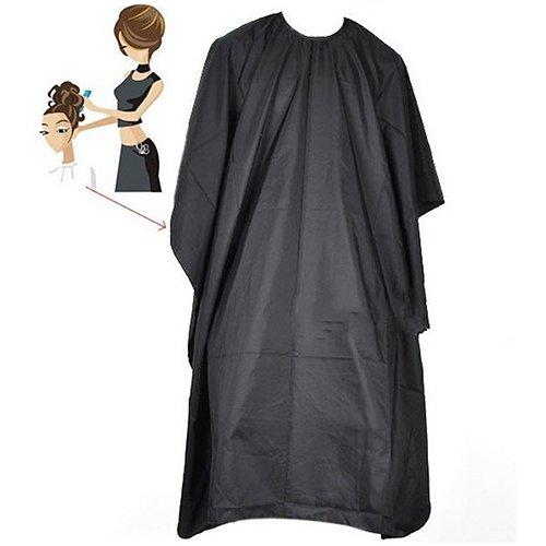 Friseurumhang für Friseursalon, einfarbig, Schwarz Skull Mantel