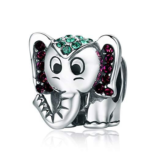 YOUFENG Jewellery Abalorio de Elefante de la Suerte con diseño de Animales...