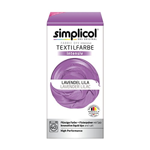 Simplicol Textilfarbe Intensiv (18 Farben), Lavendel Lila 1807: Einfaches Textilfärben in der Waschmaschine, Komplettpackung mit Färbemittel und Fixierpulver (Handtuch Lavendel)