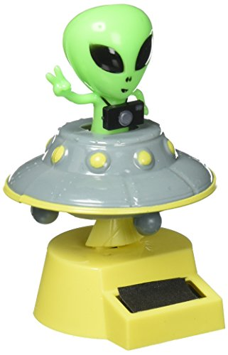 Fun and Cute Toys For Halloween SOLAR POWER DANCING ALIEN (with his/her flying Saucer). by Greenbrier