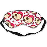 Natural Silk Eyes Mask Sleep Love English Bulldog Blindfold Eyeshade with Adjustable for Travel,Nap,Meditation... preisvergleich bei billige-tabletten.eu