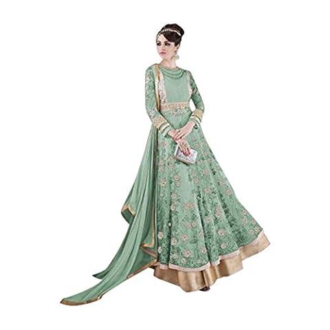 Bollywood Party Wear Dress Women Ethnic Bridal Heavy Designer Indian Festival Rakhi Wishes Anar Kali Salwar Kameez Suit 317