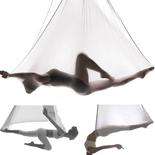 Wohnzimmer Schwingen (Yoga Hängematte Aerial Anti-Gravity-Schwingen Hängetuch Joga Rutschfeste Hammock Air Fliegen Belastung 300kg Yoga set)