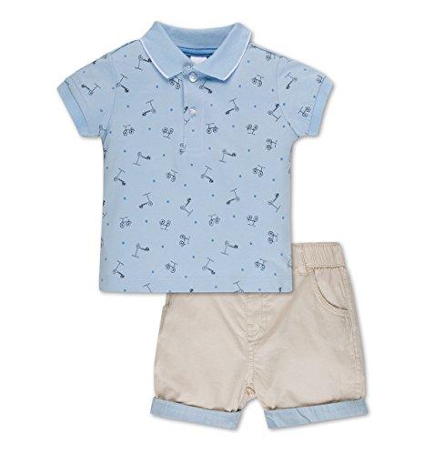C&A Baby Jungen Outfit Poloshirt hellblau mit Roller-Print gebraucht kaufen  Wird an jeden Ort in Deutschland