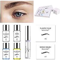 Maquillaje de ojos, kit de permanente de cejas Kit de pegamento en forma de laminado de cejas resistente al agua de larga duración Herramientas de maquillaje, maquillaje de ojos