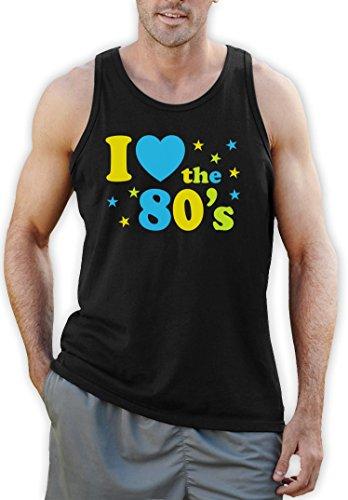 Ich liebe die 80er, I Love the 80'sSchwarz Large Tank Top