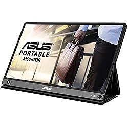 """Asus MB16AHP - Ecran Portable 15.6"""" FHD - Alimentation et Affichage via USB-C ou USB-A + Micro HDMI - Batterie Intégrée (4h) - Dalle IPS - 220cd/m² - PS4 Raspberry Pi Xbox - Haut-Parleurs"""