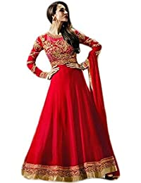 Anasha Fashions Bollywood Designer Latest Fashion Georgette Embroidered Party Wear Gown Style Salwar Suit - B077MBHHTR