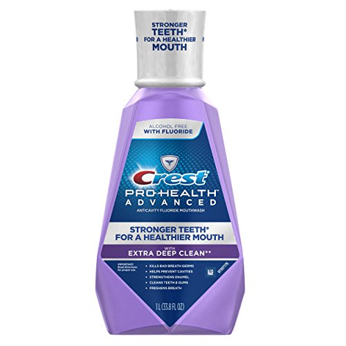 Crest Pro-Health Advanced with Extra Deep Clean Mouthwash, Clean Mint, 33.8...