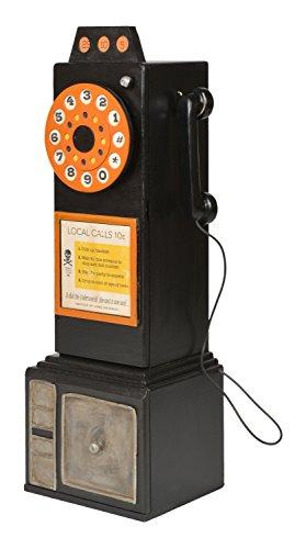ts-ideen Unidad de Almacenamiento Armario estante para CD DVD Diseño Teléfono Público Negro 79 x 26 cm