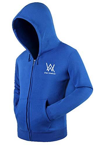Trendsuit Adult Full Zip Heavy Kapuzenshirt mit Kapuze Kapuzenpullover mit Kapuze Blau S - Heavy Full Zip Sweater