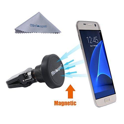 ung, Drehbar Magnetische Universal Air Vent Handy Halterung für iPhone 6S Plus 6S 5S 5C SE, Samsung Galaxy S7S6, S5, Note 543, und Andere Smartphones, GPS, Schwarz ()