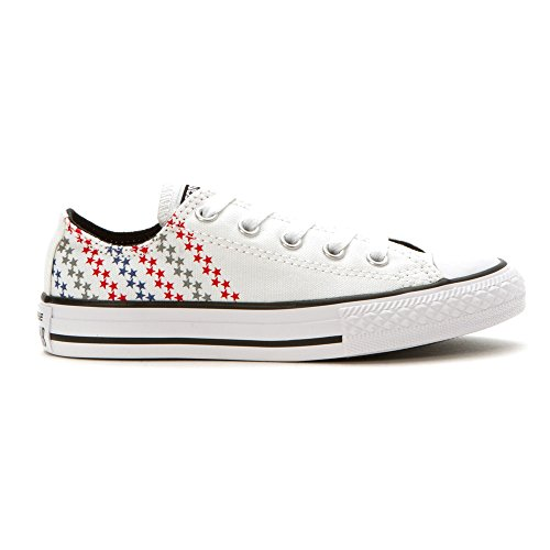 Converse Kids Chuck Taylor All Star Ox (Little Big) White/Casino/Black