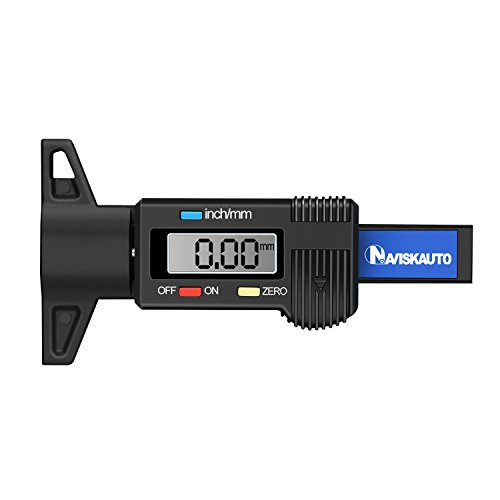 NAVISKAUTO Reifenprofilmesser Profiltiefenmesser Digital Profilmesser Reifen Profil Tiefenmesser Messchieber LCD-Display