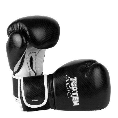 Top Ten Boxhandschuhe TOP TEN Basic 10oz schwarz Top Ten Handschuhe