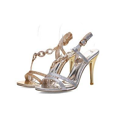 LvYuan DamenKleid-Kunstleder-Stöckelabsatz-Spitzschuh-Silber / Gold golden