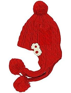 yeah67886bebé Kid Niños gorro de invierno (rojo)