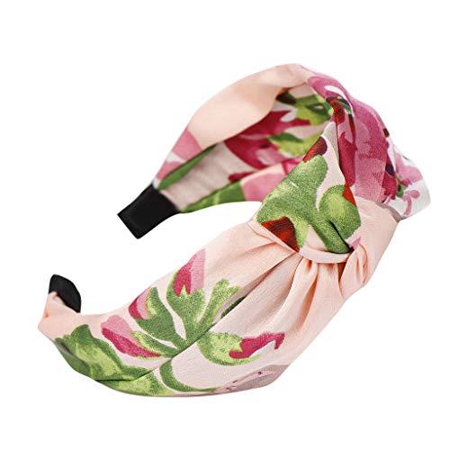 CANDLLY Hut Damen, Kopfbedeckung Zubehör Mode Breitkrempiges Bowknot Stirnband Damen Drucken Haar Kopfband Einfache Süße Mädchen Haar Stirnband Kopfschmuck