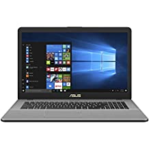 Asus VivoBook Pro 17 Notebook, 17.3 pollici HD IPS, Processore Intel Core i5-7200U, RAM 8 GB, HDD da 1 TB, Grigio Metallizzato Scuro [Layout Italiano]