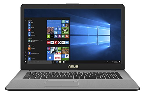 "Asus VivoBook Pro 17 Notebook, 17.3"" HD IPS, Processore Intel Core i7-7500U, RAM 8 GB, HDD da 1 TB, Grigio Metallizzato Scuro [Layout Italiano]"