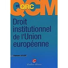 QCM et QRC Droit institutionnel de l'Union européenne