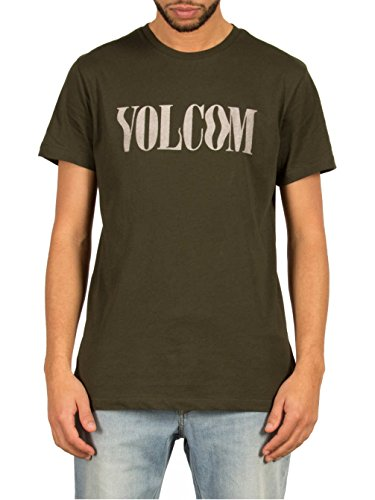 Herren T-Shirt Volcom Weave Lw T-Shirt Dark Green