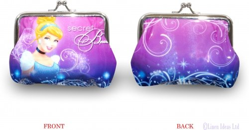 Disney Cinderella Princess Secret Beauty Clipped Purse