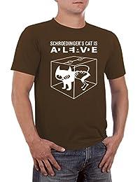 Schroedingers Cat Katze Herren Slimfit T-Shirt