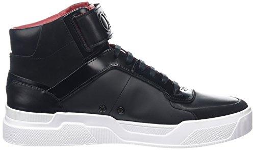 HUGO Herren Symmetric_Hito Hohe Sneaker Schwarz (Black)