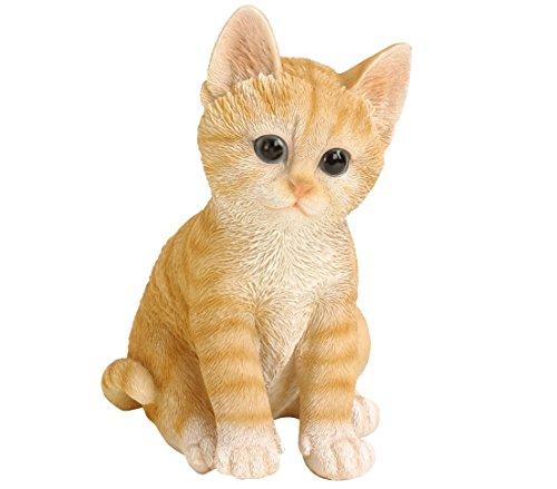 Dehner - Figura de Gato para decoración, en poliresina, marrón/Beige (Aprox. 20x 14x 12cm)
