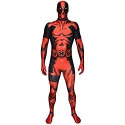 Morphsuits MLDPX - Deadpool trajes adultos, XL, 180 a 186 cm, multicolor