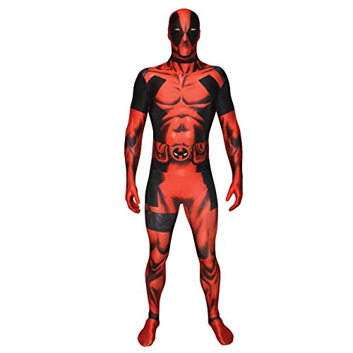 Offizieller Deadpool Morphsuit, Verkleidung, Kostüm  - Medium - 5'-5'4 (Morphsuit Superhelden)
