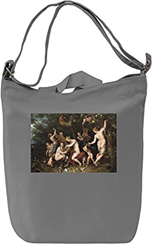 Nymphs Filling The Horn Of Plenty Rubens Painting Canvas Bag Day Canvas Day Bag  100% Premium Cotton Canvas  DTG Printing 