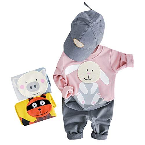 Mädchen, Kleinkind Kinder Jungen Sweatshirt Cartoon Tops Jeans Hosen Hose Outfits Set ()