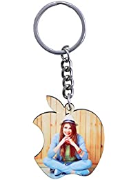 Personalized Apple Logo Key Chain- Have Your Photo Or Your Design On Your Key Chain