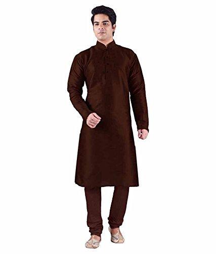 royal-kurta-mens-luxury-art-silk-blend-designer-occasional-kurta-churidar-set-42-brown