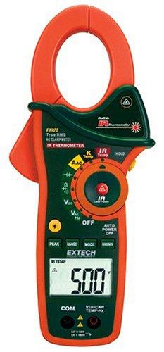 Extech 1000 A TRMS-Stromzangen mit Infrarot-Thermometer, 1 Stück, EX820