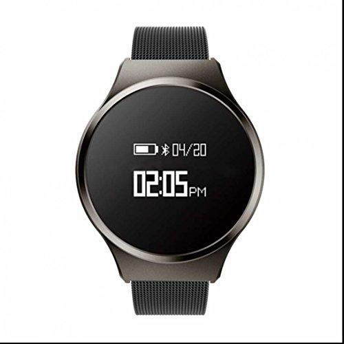 Fitness Tracker Herzfrequenz Fitness Armband Aktivität Tracker Smart Armband mit Schrittzähler Pulsuhren Schlafmonitor Kalorienzähler Call Benachrichtigung Push Fitness Armband mit Distanz Datum und Uhrzeit für Android und iOS