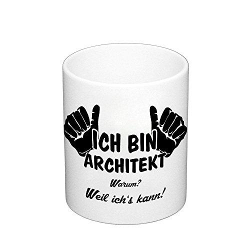 Kaffeebecher - Ich bin Architekt, schwarz