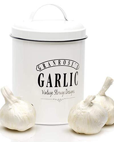 Granrosi Knoblauchtopf im Retro Design - Geräumiger Behälter hält Knoblauch länger frisch und ist EIN optisches Highlight in jeder Küche