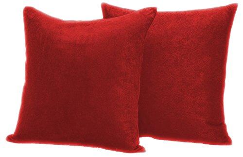 2er Pack Luxus weichen Wildleder Dekorative Kissenbezug, Mikrofaser, Cinnabar, 50,8 x 50,8 cm -